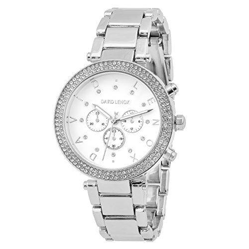 David Lenox Silber Ton Damen Armbanduhr  Style dl0132
