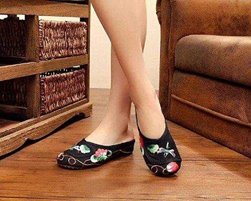 Lazutom, Pantofole Da Donna Nere