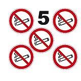 SAFIRMES 5 Autocollants Rond 10cm Interdit DE Fumer