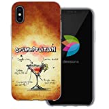 dessana Cocktail Rezepte Transparente Silikon TPU Schutzhülle 0,7mm Dünne Handy Tasche Soft Case für Apple iPhone X Cosmopolitan