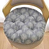 Coussin 40x40 Tissu Rugueux Rond En Coton coussins en coton et lin coussins super moelleux coussins en tatami adaptés à l'apparence intérieure de bureau