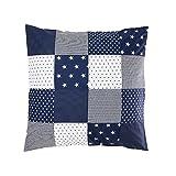 ULLENBOOM ® Baby Bettdeckenbezug 80x80 Blaue Sterne (auch als Kinderwagendecke, Stubenwagen Decke, Dekokissen geeignet, Motiv: Sterne, Patchwork)