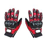 Gazechimp Sportliche Handschuhe - Professionelle Motorrad Handschuhe - Rot, M