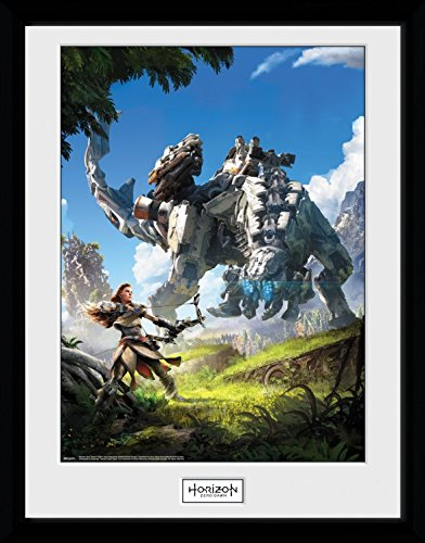 Preisvergleich Produktbild 1art1 103454 Horizon Zero Dawn - Key Art Gerahmtes Poster Für Fans Und Sammler 40 x 30 cm