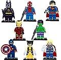 Dargo Compatible SuperHeroes Set Marvels Avengers Batman Superman Wolverine Spiderman Hulk Iron Man Thor Captain America Mini Figures Blocks Toys