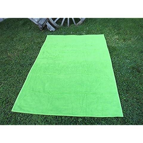 Toalla manta 150x200cm , 100%algodón, 460gr/m2, fabricada en Portugal. (verde)