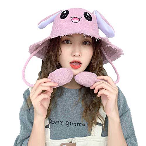 dressfan Hut für Erwachsene, Kinder, Cartoon, Kaninchen Gr. Kinder, rose