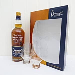 Speyside Single Malt Scotch Benromach 10 Years Old Whisky and Glasses Set - Ideas for Birthday, Anniversary, Wedding and Corporate