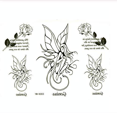 Ruofengpuzi fiore fata impermeabile tatuaggio adesivo femminile tatuaggio tatuaggio tattoo design stagnola mutandine