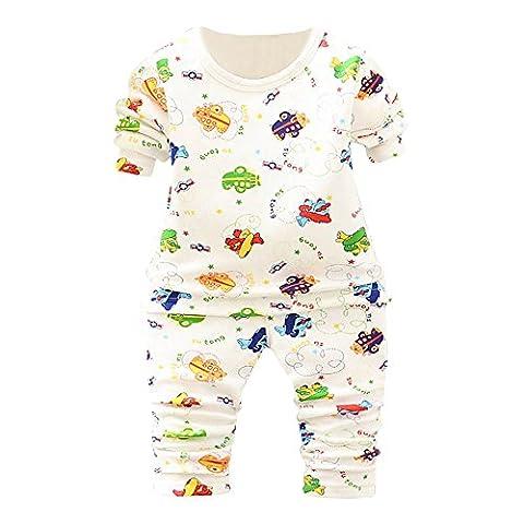 Toddler Kid Romper T-shirt Tops + Pantalons, Famille Ensemble de Vêtements pour Animaux Baby Outfits (0-12 Mois, Vert)