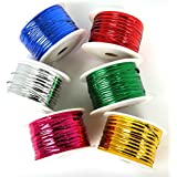 HOME CUBE® Plastic Twist Tie Wire Spool with Cutter for Garden Yard Plant 50m - Random Color