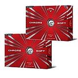 Callaway 2Boxen Chrom Soft Golfbälle, Weiß (2Dutzend, 24Bälle)