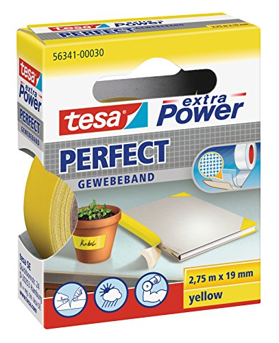 tesa extra Power Perfect Gewebeband gelb