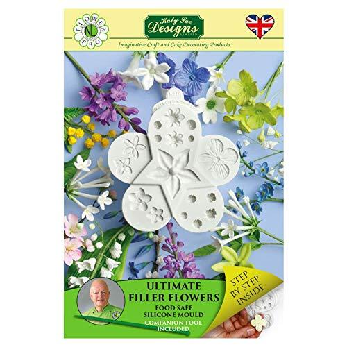 Stampo per glassa in silicone, a forma di fiore, per decorazione torte, pasta di zucchero e marzapane, adatto per alimenti