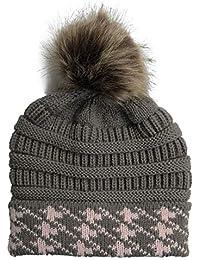 Amorar Amrar Cappello da Donna a Maglia Cappello Invernale Cappello da Sci  Caldo Cappello da Neve 8d464da30281