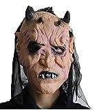Sun Worlds-Masque de Halloween-Masques Super Terroriste de Latex Diable-Accessoires Décoratifs pour Bar Soirée Fête Cosplay-Visage Jaune