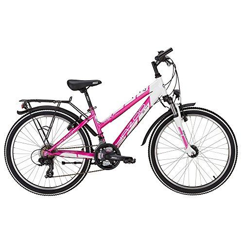 Yazoo Devil 2.4 Mädchen 24 Zoll 21 Gang Kettenschaltung Jugend Fahrrad 2017, Rahmenhöhe:35 cm, Farbe:pink