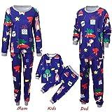 Riou Weihnachten Set Kinder Baby Kleidung Pullover Familie Pyjamas Nachtwäsche Outfits Set Schlafanzug PJS Homewear für Eltern Jungen Mädchen Spielanzug Eltern Kindabnutzung Set (L, Mom)