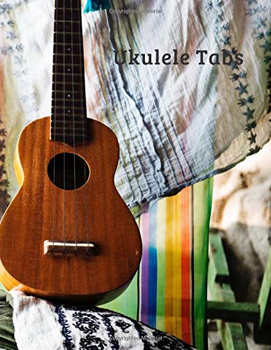 "Ukulele Tabs: Ukulele Music Tabs & Chords Blank Notebook with Tab Boxes and Dot Grid Paper 8.5"" x 11\"", 170 pages, soft matte cover."