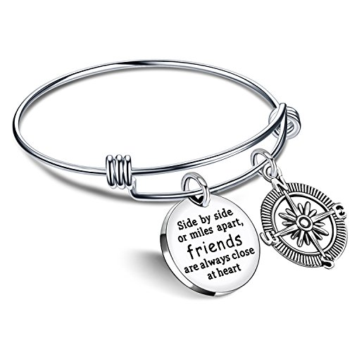 Best Friend Bracelet Friends are always close at heart BBF Bangle Compass Long Distance Friendship Gifts …
