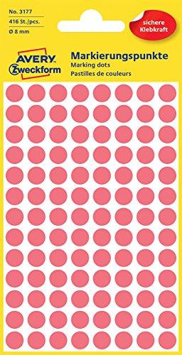 Avery Zweckform 3177LabelOcean (etiquetas, diámetro 8mm) 416pieza leuchtrot