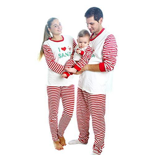 Baywell Pijamas Familiares de Navidad Conjuntos de Navidad para Mujer Hombre Niños Bebés Niñas Pijamas de Navidad a Juego (M/165, Madre)
