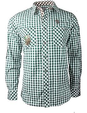 Fuchs Herren Trachtenhemd slimfit mit Sticker Gr. S-XXXL