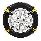 LOOMBNB Cadena de Nieve, Cadena 4PCS Antideslizante del Coche del neumático de Nieve Camión Invierno Cadena Engrosamiento de Emergencia para la mayoría de Coches SUV Camión,Amarillo
