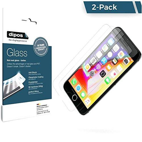 dipos Schutzfolie iPhone 8 Panzerfolie - 9H Displayschutz-Folie klar, 2 - Für Iphone Kratzer-entferner