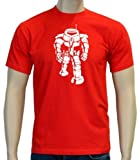 Coole-Fun-T-Shirts Herren T-Shirt Sheldon Robot Big Bang Theory!, rot-weiss, S, BK104