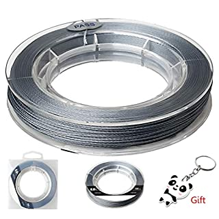 kuou 100 Meters Fishing Line, 0.4mm in diameter Strong PE braided Fishing Wire Tension Spool Beading Threads(40KG 88LB)