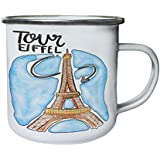 Nueva Eiffel Hermosa Paris Retro, lata, taza del esmalte 10oz/280ml m432e