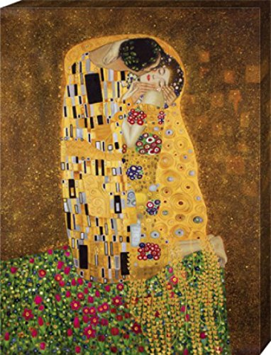 Gustav Klimt - El Beso II Cuadro, Lienzo Montado Sobre Bastidor (80 x 60cm)