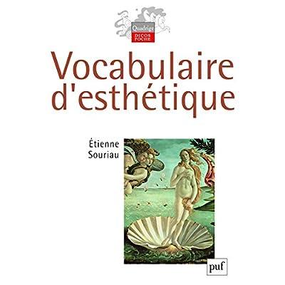 Vocabulaire d'esthétique