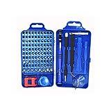Werkzeug-Set Präzisionsschraubendreher, magnetisch, 110 in 1, für Smartphone, iPhone, Samsung, PC, tragbar, Brillen, Uhren, PS4, komplett und praktisch, blau