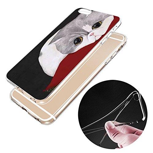 Iphone 6s Hülle Niedlich Katze Welpe Erdbeere Marmor Silikon TPU Schutzhülle Ultradünnen Case Schutz Hülle für iPhone 6/6s YM54