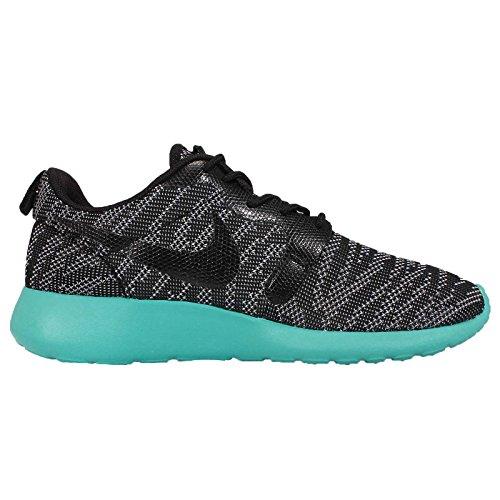 Nike Roshe Run Knit Jacquard, Baskets Basses femme wolf grey black light retro 002
