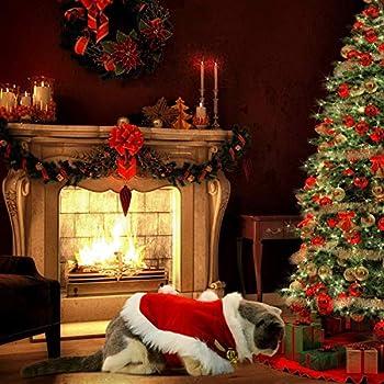 Outtybrave Robe Noel Chat,Nouveau Deguisement de Noel Chat -Taille Ajustable - Cadeau de Noël spécial Les Chats Les Chiots