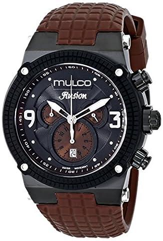 Mulco Unisex MW3-12140-035 Ilusion Brown Strap Black Dial Men's Watch