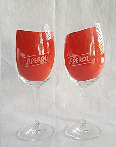 Aperol Set–2x Aperol Verre/Verre à vin/Cocktail Verre