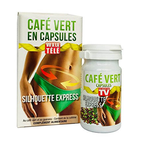 Café Vert Extra Minceur en capsules – 60 gélules pour 30 jours d'approvisionnement – Fabriqué en Espagne