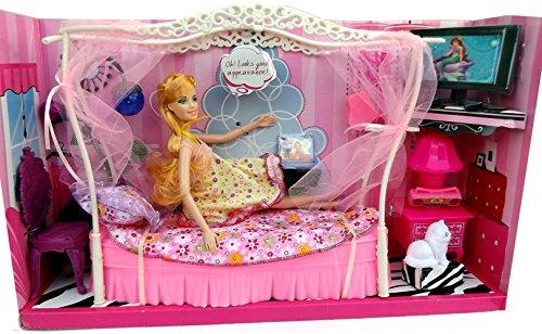 Brigamo 83072 - Princess Puppen Kleiderschrank inkl. Modepuppe und Kleider thumbnail