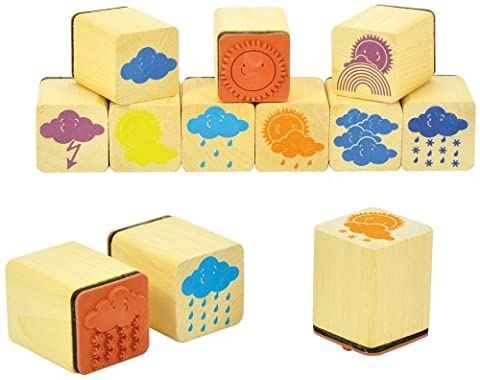 Eduplay 220116 Wooden Weather Stamps (12-Piece)