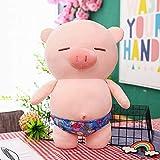 luludsoo Peluches de Peluche Rellenos, decoración de la habitación, bebé Mayor, Cerdo Deportivo 25 cm (0,12 kg) Trunks de natación Azul Oscuro