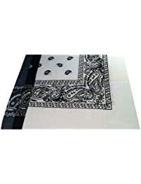 Bandana Set of Three, Dark Grey, White And Black