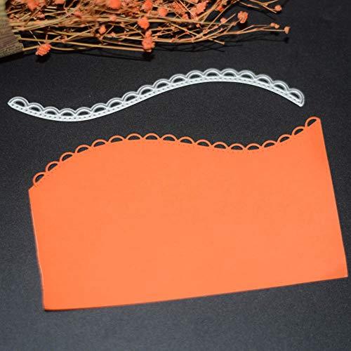 KimcHisxXv ?Stanzformen, Multi Layered Floral Frame Metall Stanzform DIY Scrapbooking Pr?geschablone - Silber -