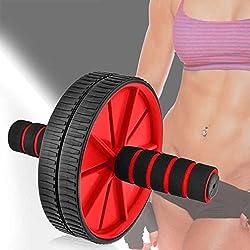 Rueda Abdominal Ab Wheel Abdominales Roller Gimnasio en Casa con Alfombra Rojo