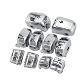Amazicha Chrome Hand Control Switch Housing Caps for Harley-Davidson Electra Street Glide 1996-2013 Chrome 10 PCS/Set
