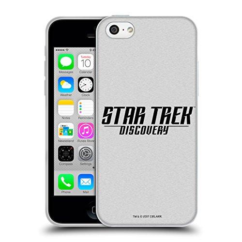 Offizielle Star Trek Delta 2 Discovery Logo Soft Gel Hülle für Apple iPhone 5 / 5s / SE Schwarz Und Weiss