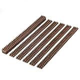 PestExpel di anti salita gatto uccello recinzione umana muro davanzale porte getta picchi di 5 Meter pacchetto marrone